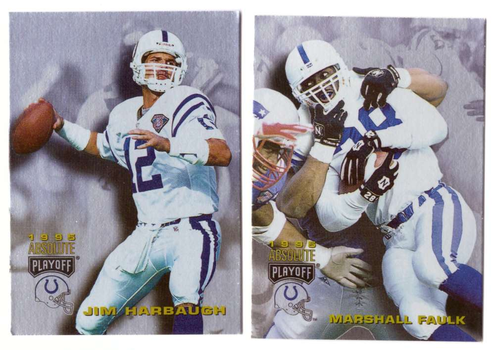 1995 Absolute (Playoff) Football Team Set - INDIANAPOLIS COLTS