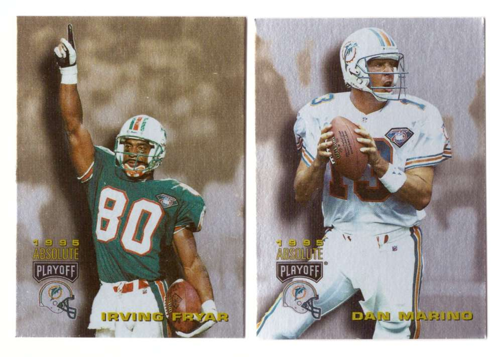 1995 Absolute (Playoff) Football Team Set - MIAMI DOLPHINS
