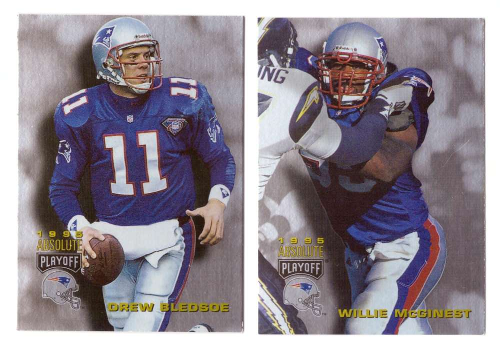 1995 Absolute (Playoff) Football Team Set - NEW ENGLAND PATRIOTS