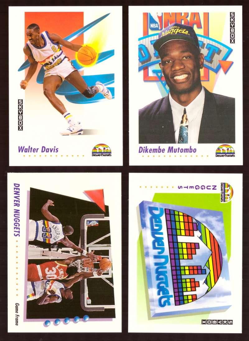 1991-92 SkyBox Basketball Team Set - Denver Nuggets
