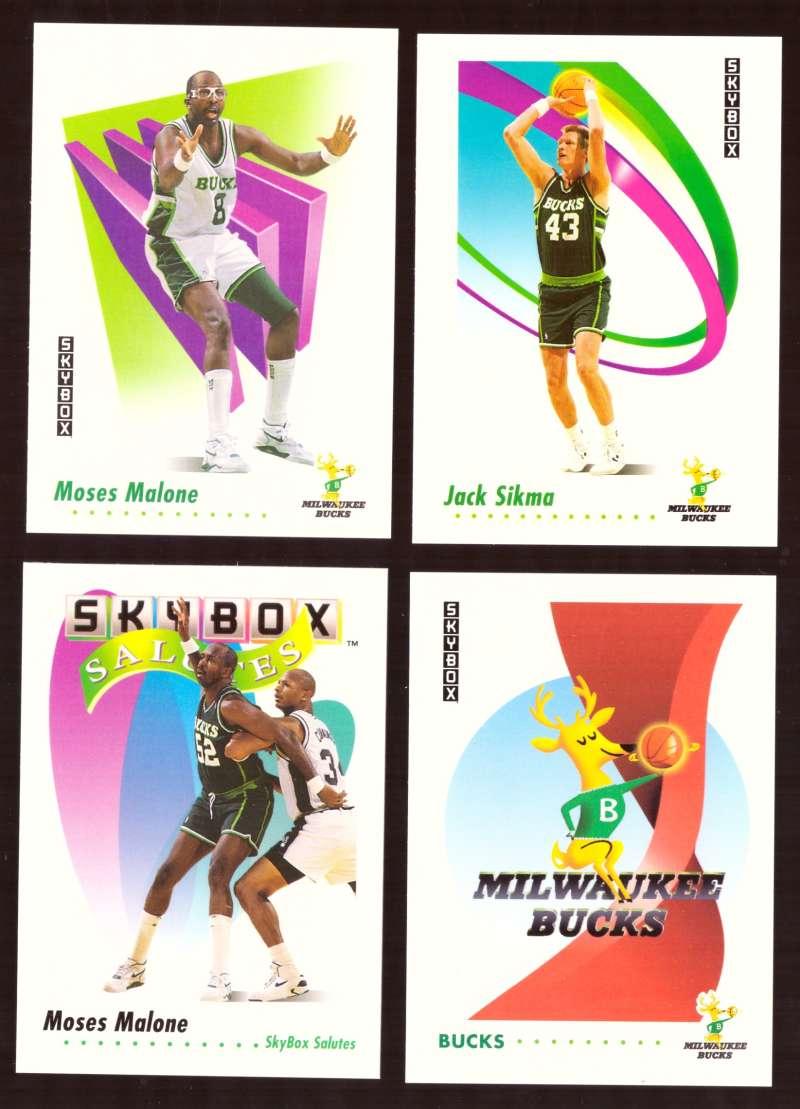 1991-92 SkyBox Basketball Team Set - Milwaukee Bucks