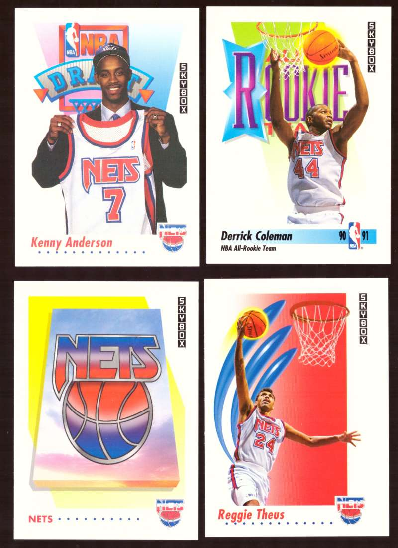 1991-92 SkyBox Basketball Team Set - New Jersey Nets
