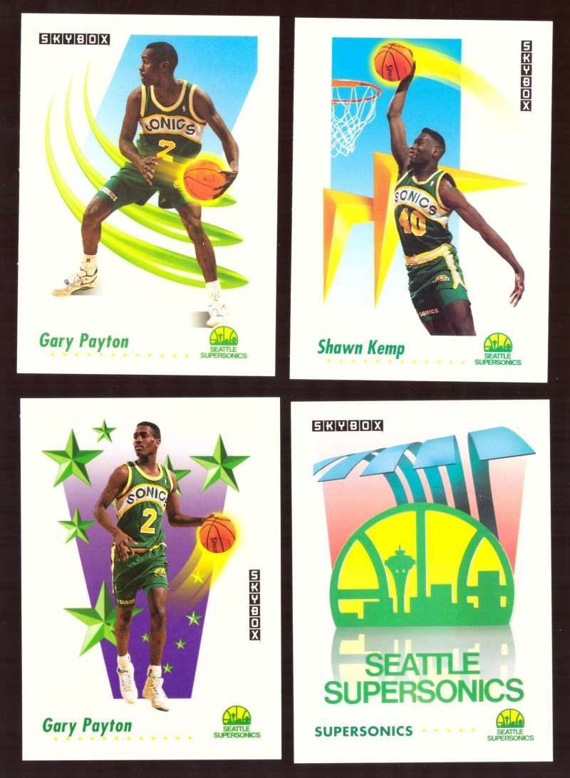 1991-92 SkyBox Basketball Team Set - Seattle Supersonics