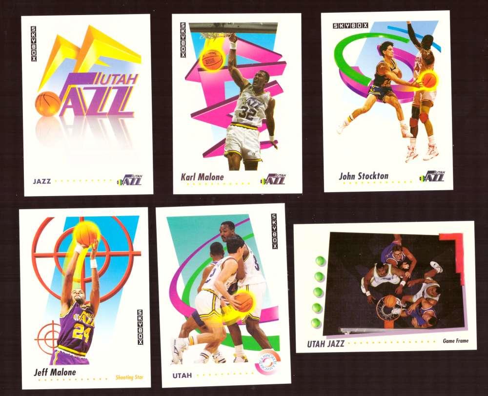 1991-92 SkyBox Basketball Team Set - Utah Jazz