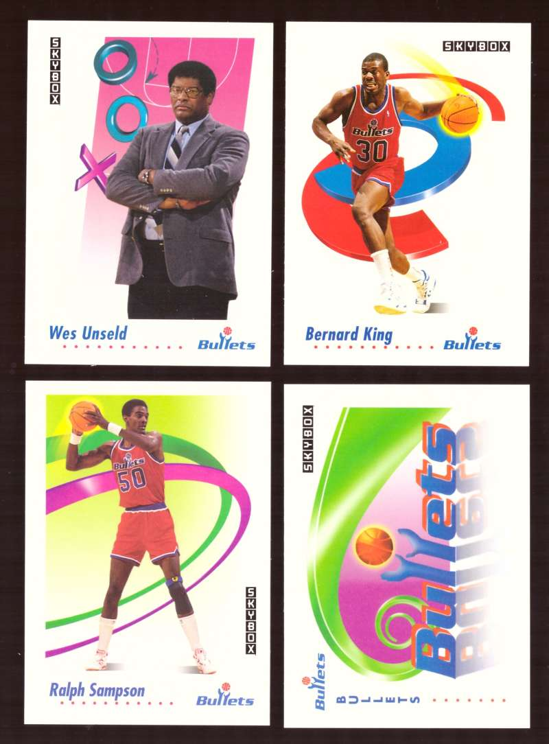 1991-92 SkyBox Basketball Team Set - Washington Bullets