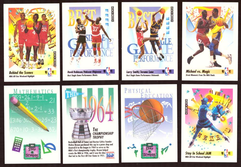1991-92 SkyBox Basketball Cards not in team sets.
