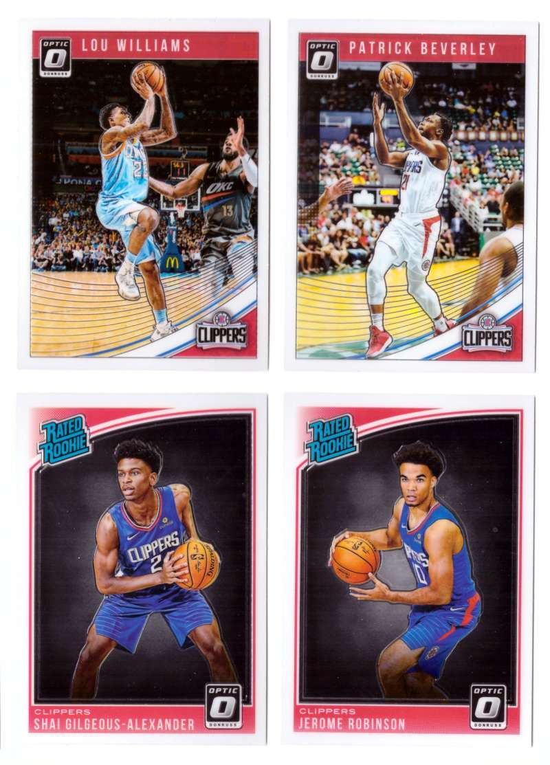 2018-19 Donruss Optic Basketball Team Set - Los Angeles Clippers