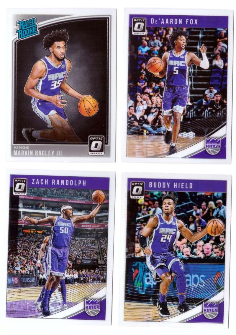 2018-19 Donruss Optic Basketball Team Set - Sacramento Kings