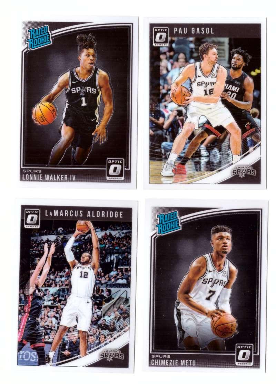 2018-19 Donruss Optic Basketball Team Set - San Antonio Spurs