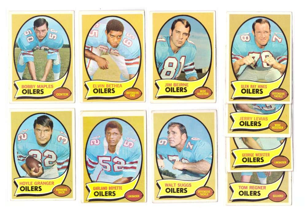 1970 Topps Football (B) Team Set - HOUSTON OILERS