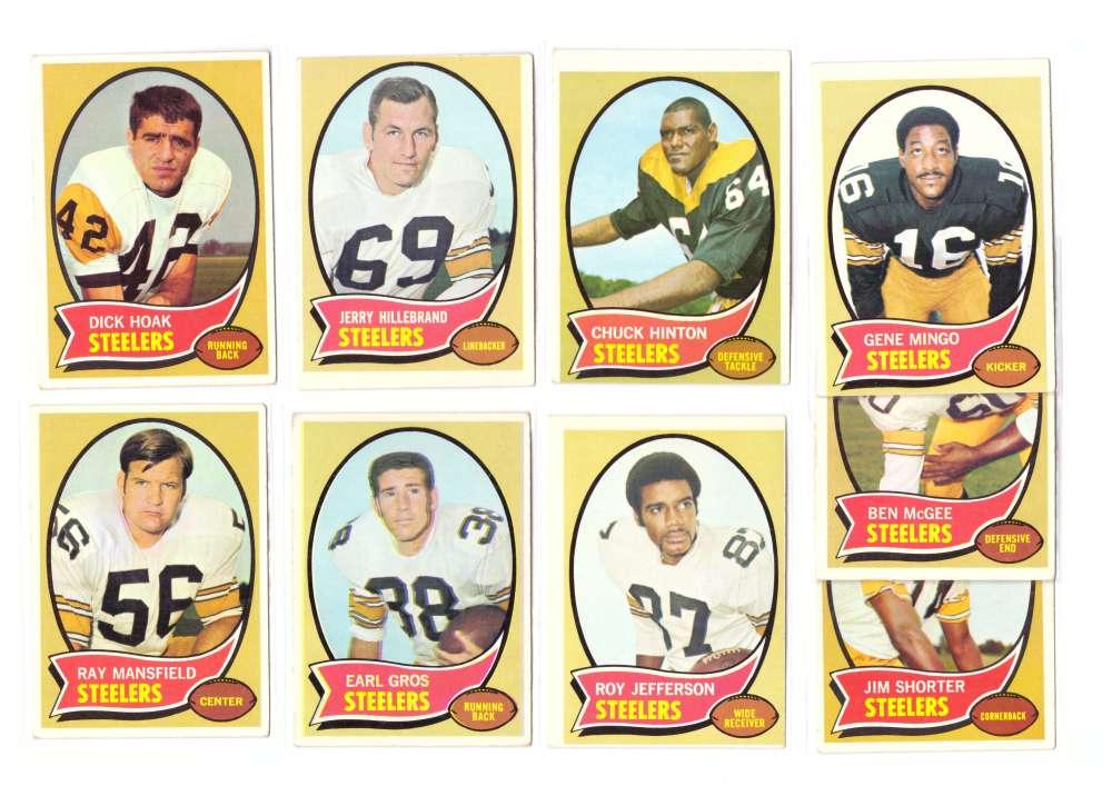 1970 Topps Football (B) Team Set - PITTSBURGH STEELERS