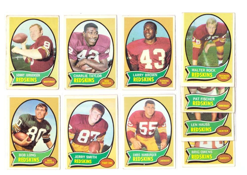 1970 Topps Football (B) Team Set - WASHINGTON REDSKINS