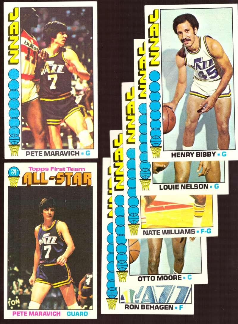 1976-77 Topps Basketball Team Set (B) - New Orleans Jazz