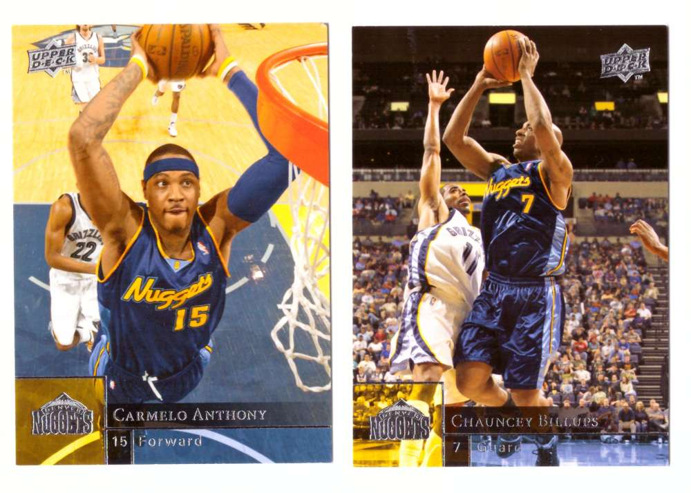 2009-10 Upper Deck (Base 1-200) Basketball Team Set - Denver Nuggets