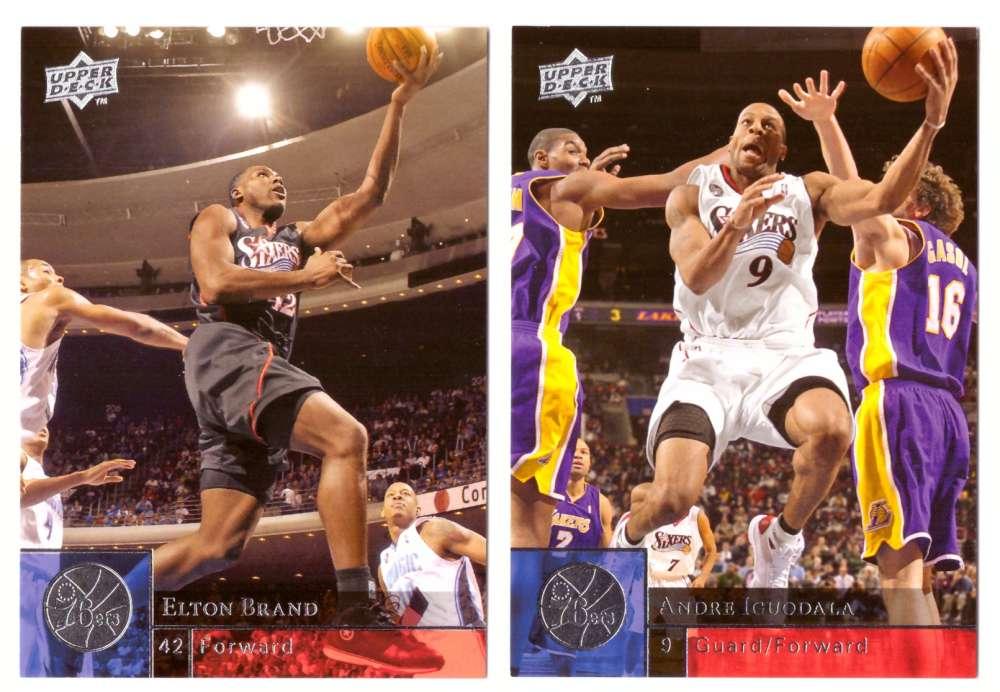 2009-10 Upper Deck (Base 1-200) Basketball Team Set - Philadelphia 76ers
