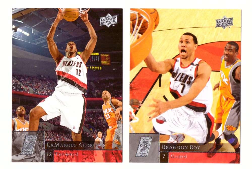 2009-10 Upper Deck (Base 1-200) Basketball Team Set - Portland Trail Blazers
