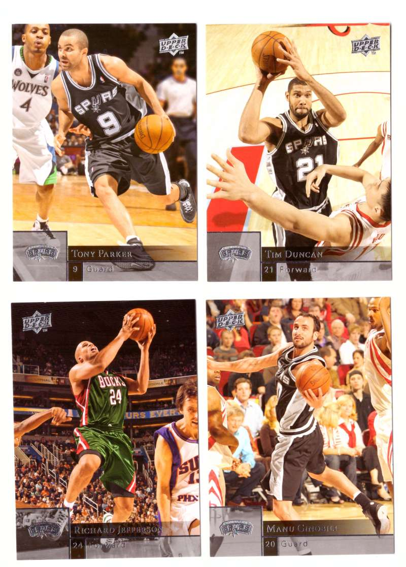2009-10 Upper Deck (Base 1-200) Basketball Team Set - San Antonio Spurs