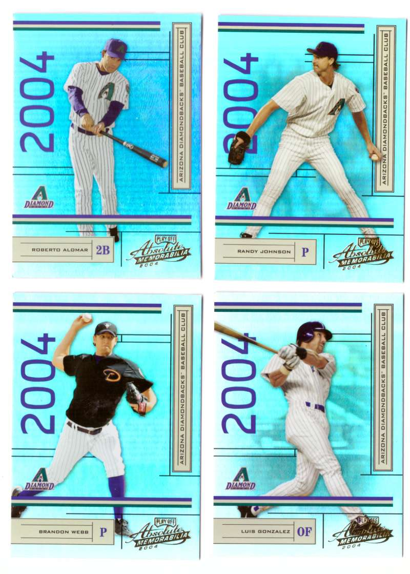 2004 Playoff Absolute Memorabilia (Serial #/1349) - ARIZONA DIAMONDBACKS Team Set