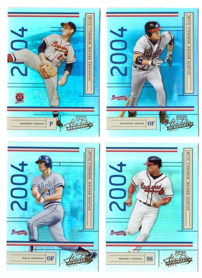 2004 Playoff Absolute Memorabilia (Serial #/1349) - ATLANTA BRAVES Team Set