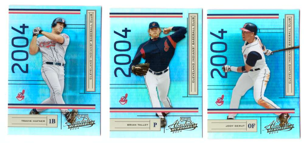 2004 Playoff Absolute Memorabilia (Serial #/1349) - CLEVELAND INDIANS Team Set