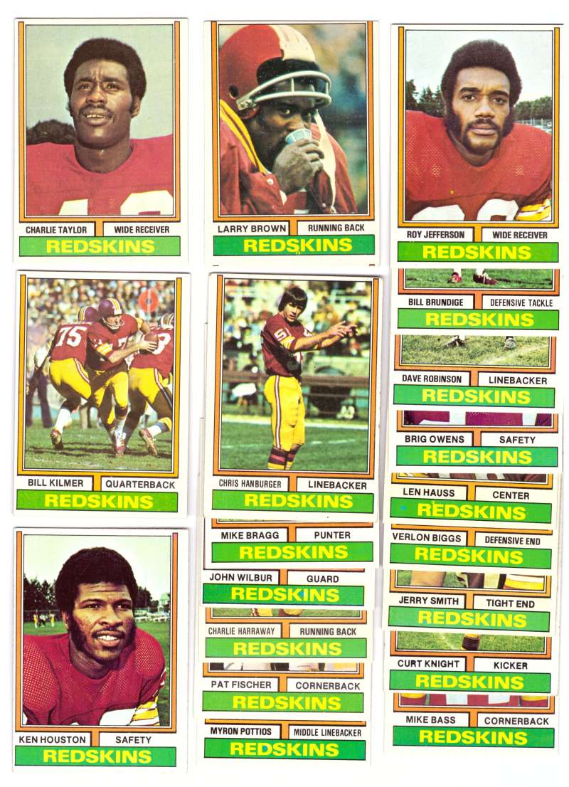 1974 Topps Football Team Set (B) - WASHINGTON REDSKINS