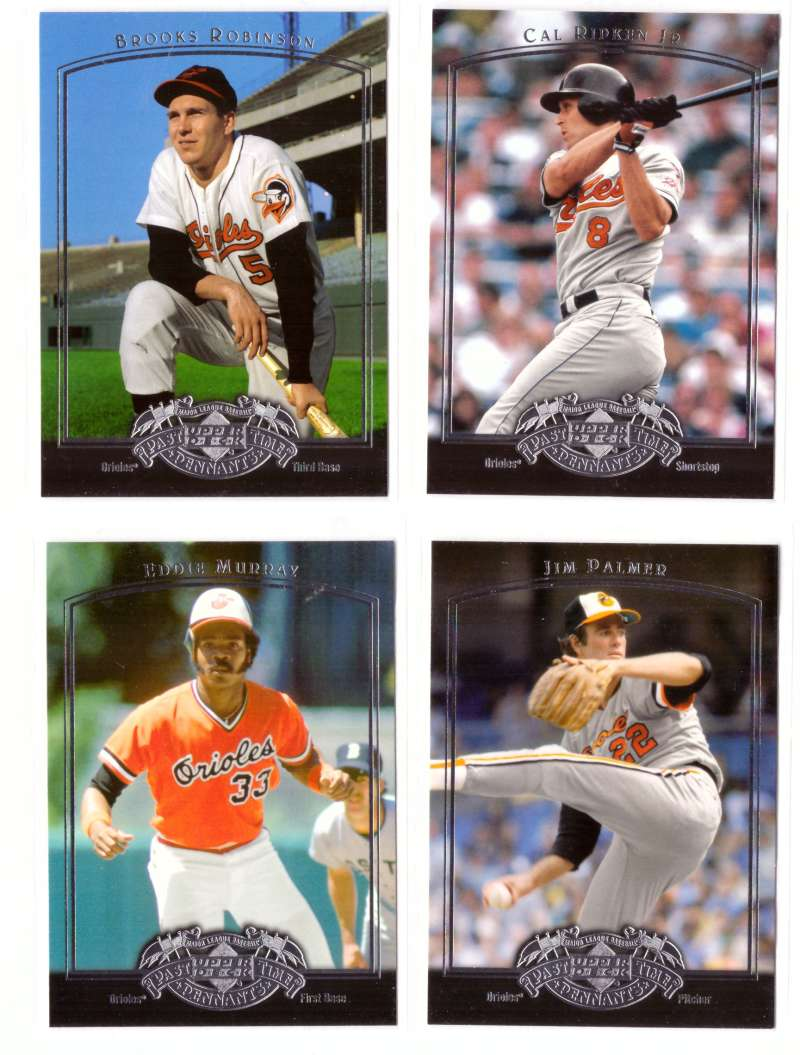 2005 Upper Deck Past Time Pennants - BALTIMORE ORIOLES Team Set