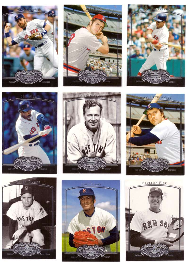 2005 Upper Deck Past Time Pennants - BOSTON RED SOX Team Set