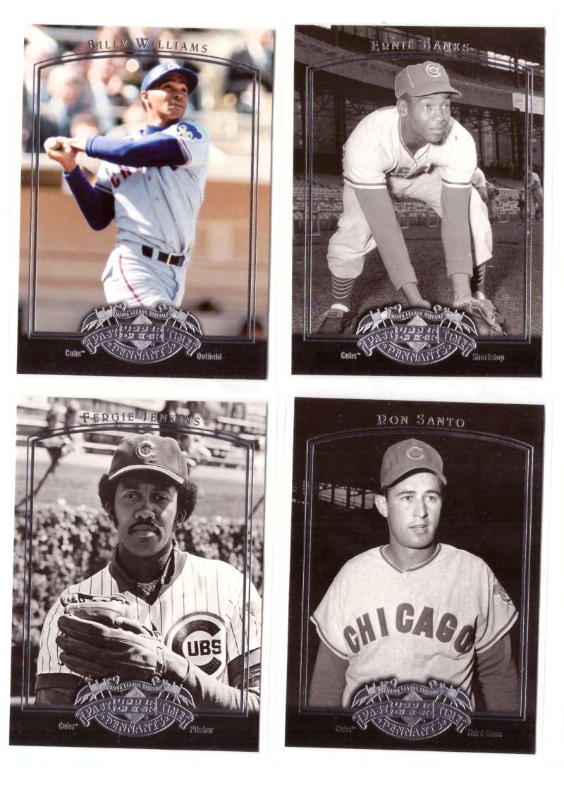 2005 Upper Deck Past Time Pennants - CHICAGO CUBS Team Set