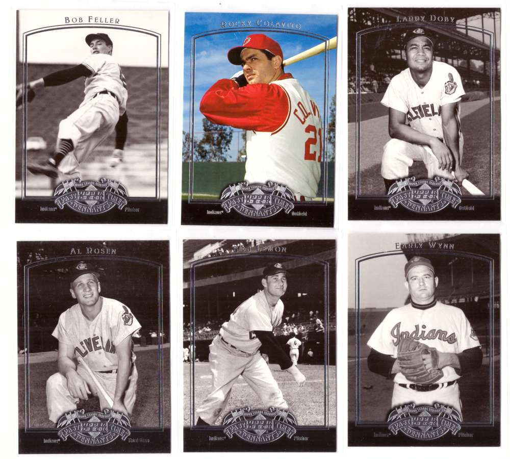 2005 Upper Deck Past Time Pennants - CLEVELAND INDIANS Team Set