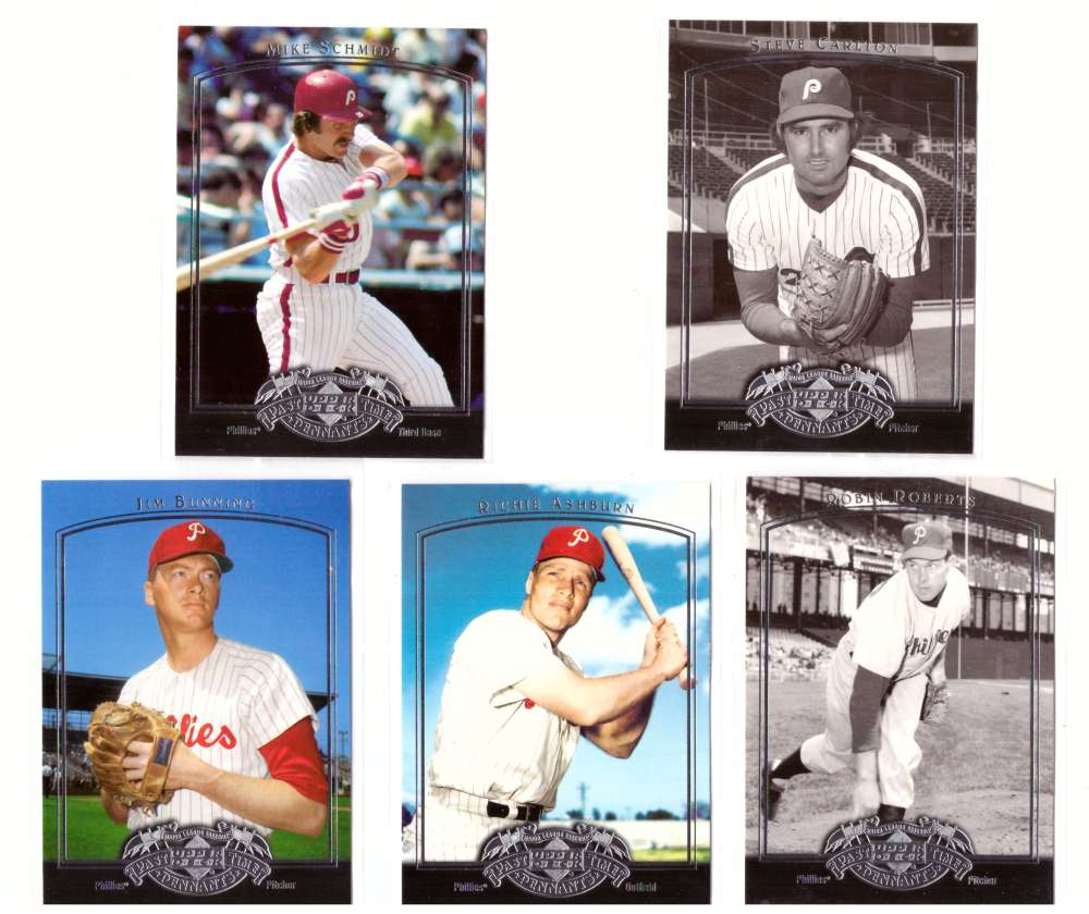 2005 Upper Deck Past Time Pennants - PHILADELPHIA PHILLIES Team Set