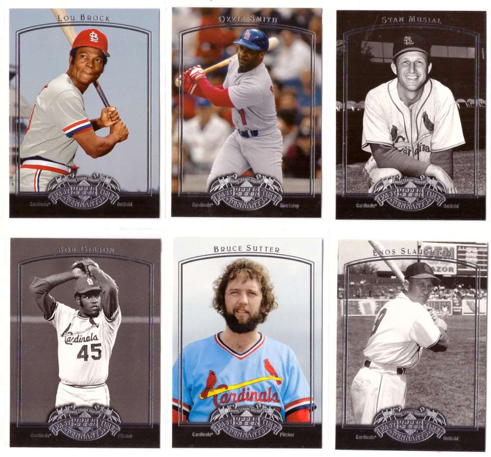 2005 Upper Deck Past Time Pennants - ST LOUIS CARDINALS Team Set