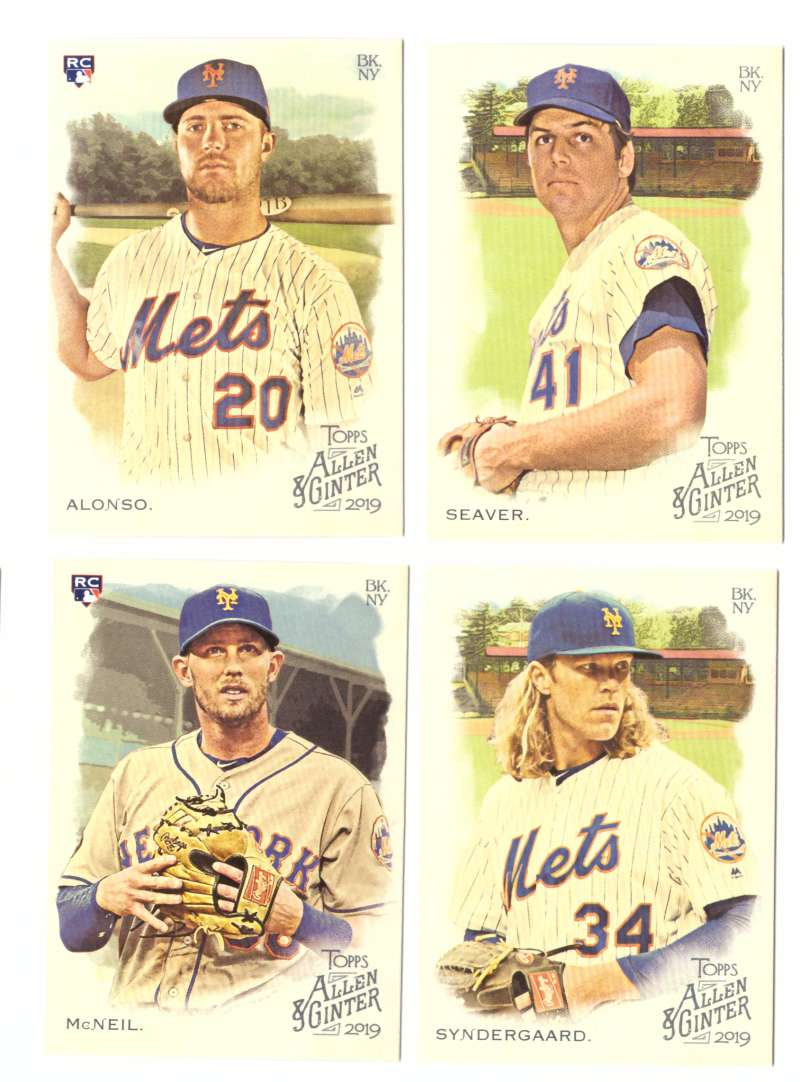 2019 Topps Allen and Ginter - NEW YORK METS Team Set