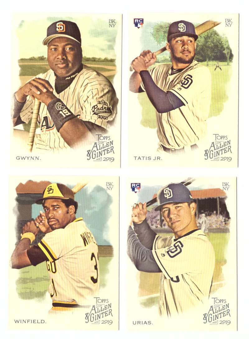 2019 Topps Allen and Ginter - SAN DIEGO PADRES Team Set