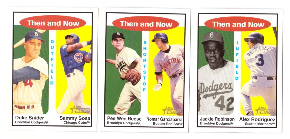 2001 Topps Heritage Then and Now - LOS ANGELES DODGERS