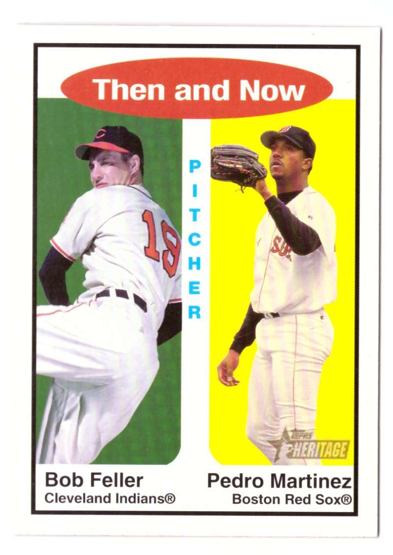 2001 Topps Heritage Then and Now - CLEVELAND INDIANS