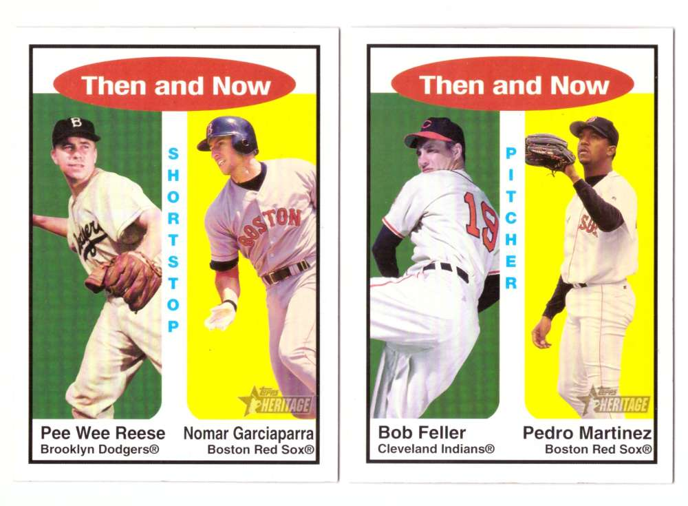 2001 Topps Heritage Then and Now - BOSTON RED SOX