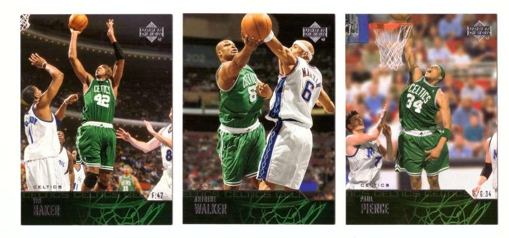 2003-04 Upper Deck Basketball (Base 1-300) Team Set - Boston Celtics