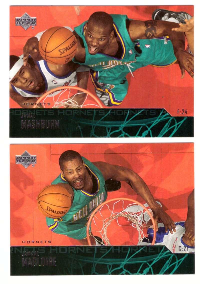 2003-04 Upper Deck Basketball (Base 1-300) Team Set - New Orleans Hornets