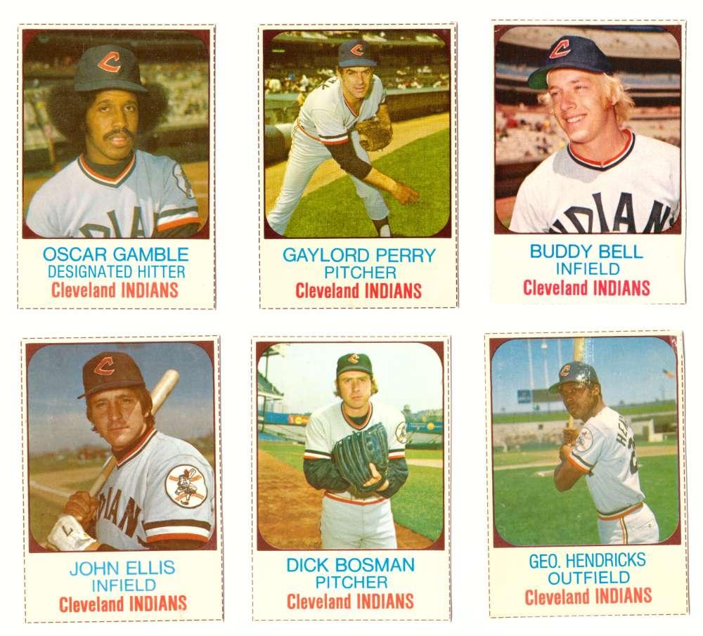 1975 Hostess (B) - CLEVELAND INDIANS Team Set