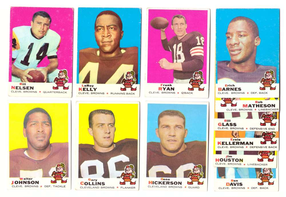 1969 Topps Football Team Set - CLEVELAND BROWNS