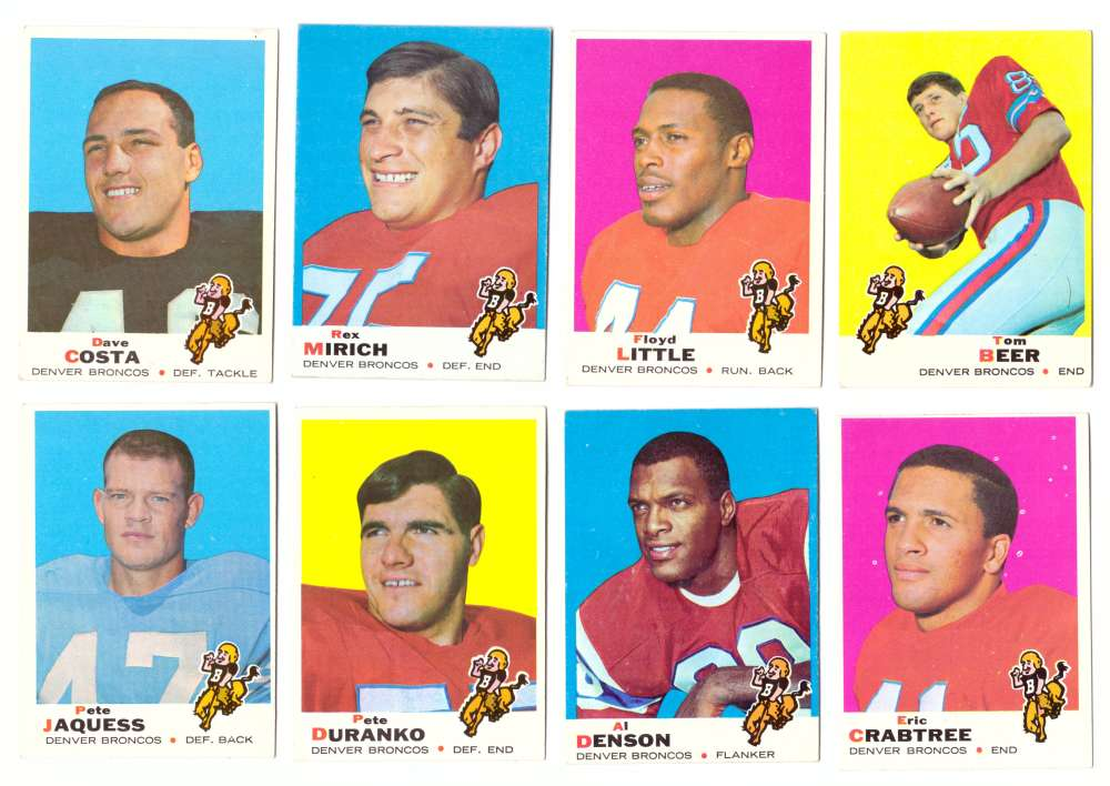 1969 Topps Football Team Set - DENVER BRONCOS