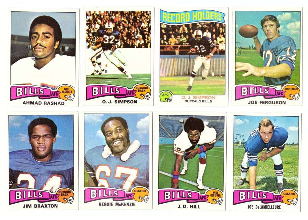 1975 Topps Football Tam Set (B) (EX Condition) - BUFFALO BILLS