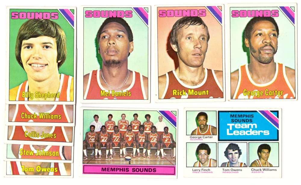 1975-76 Topps Basketball Team Set - Memphis Sounds