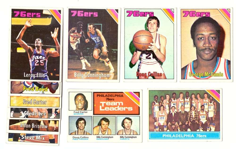 1975-76 Topps Basketball Team Set - Philadelphia 76ers