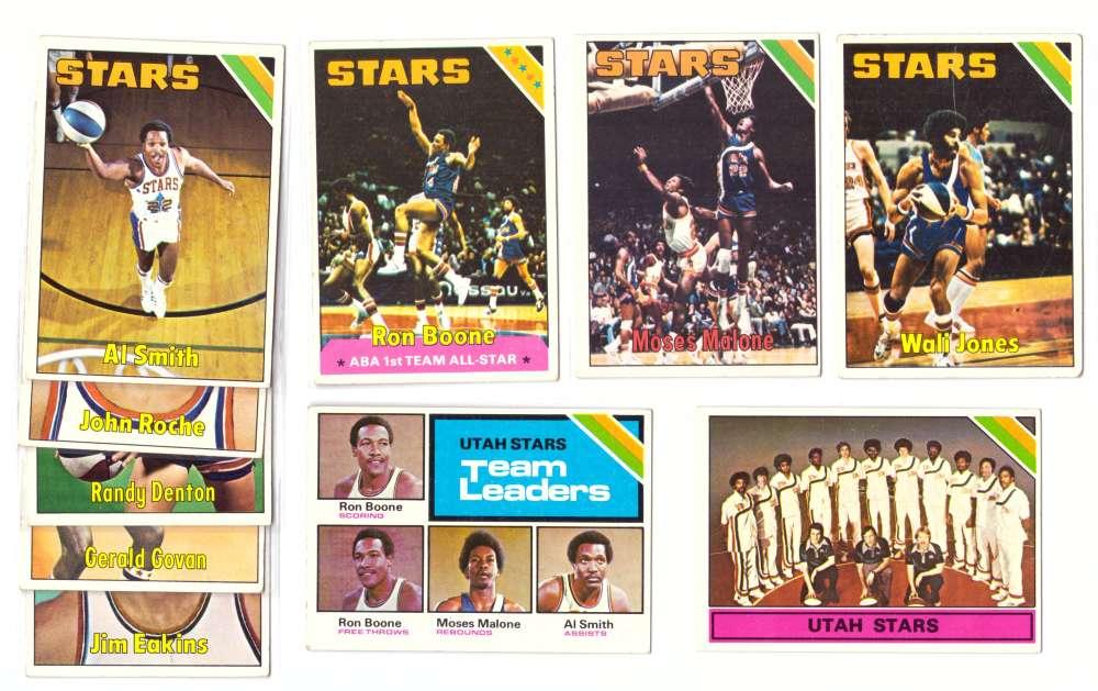 1975-76 Topps Basketball Team Set - Utah Stars