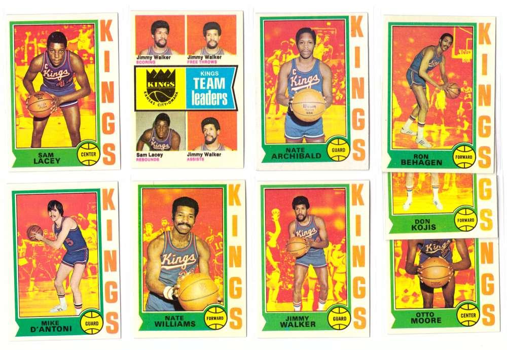 1974-75 Topps Basketball Team Set - Kansas City Kings
