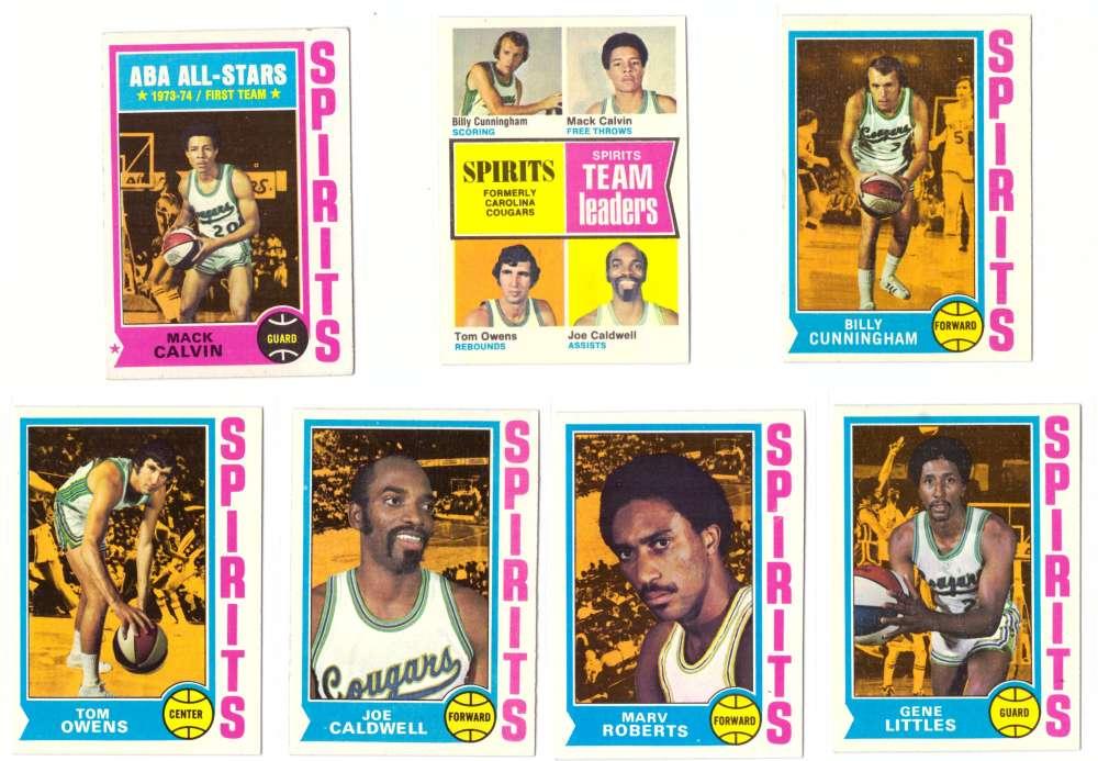 1974-75 Topps Basketball Team Set - St Louis Spirits
