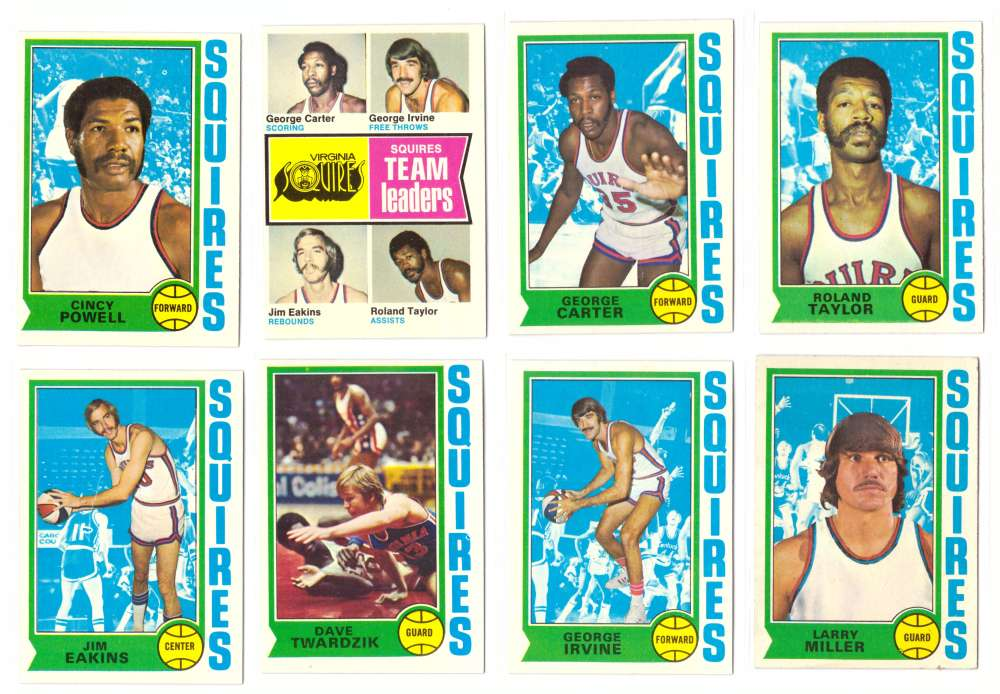 1974-75 Topps Basketball Team Set - Virginia Squires