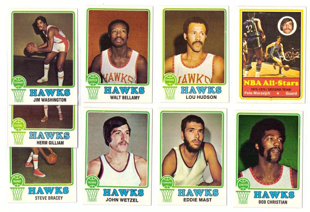 1973-74 Topps Basketball Team Set - Atlanta Hawks