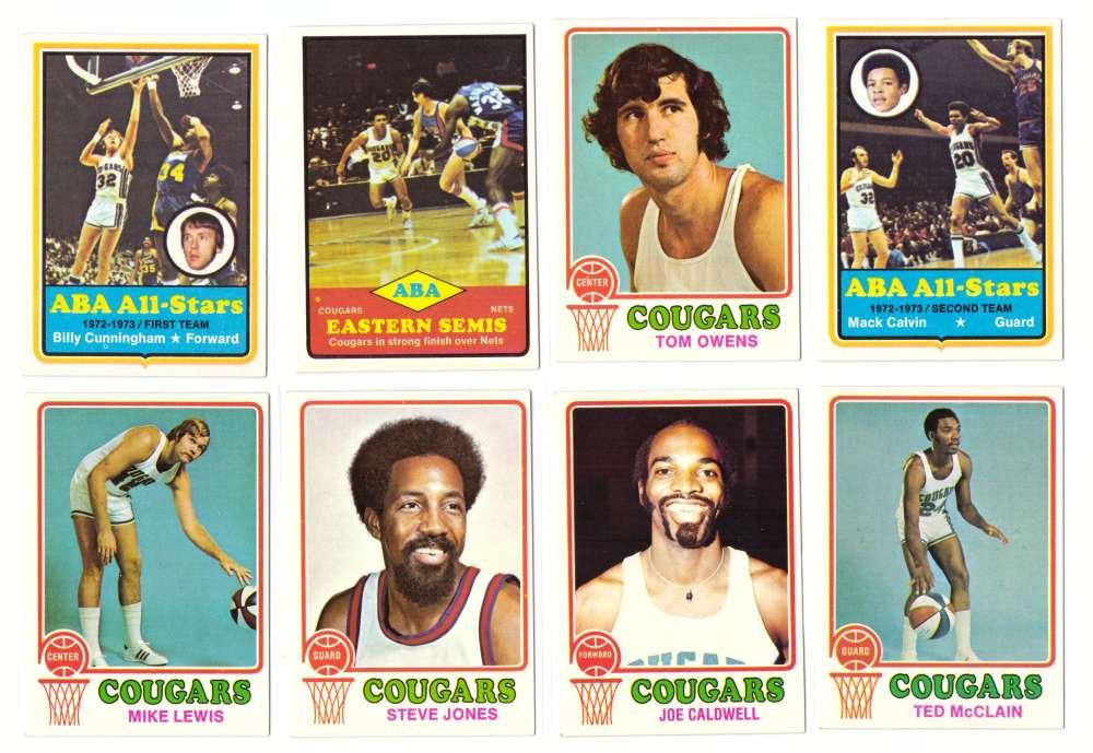 1973-74 Topps Basketball Team Set - Carolina Cougars